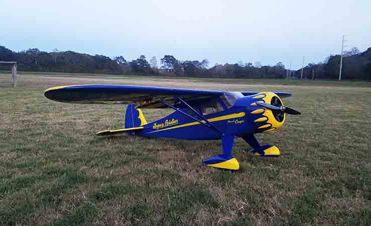 "Legacy Aviation 72"" Muscle Coupe  Yellow/ blue scheme - ARF"