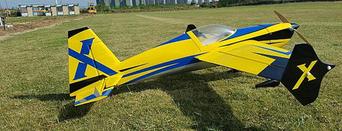 "Extreme Flight 52"" Slick 580 Yellow/blue scheme - ARF"