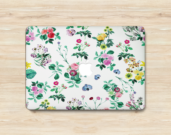 macbook cover flower