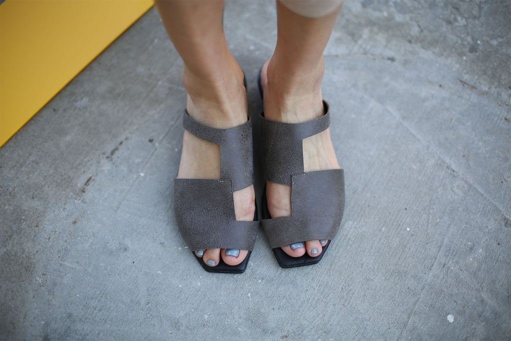 Anji - Grey - Abramey Shoes