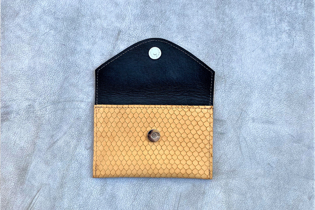 Looshi Wallet - Imprinted Yellow Mustard