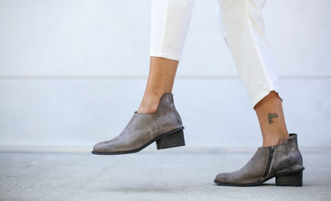 Isabella - Gray - Abramey Shoes