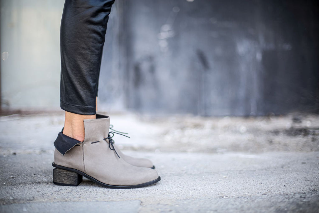 Lucia - Gray - Abramey Shoes