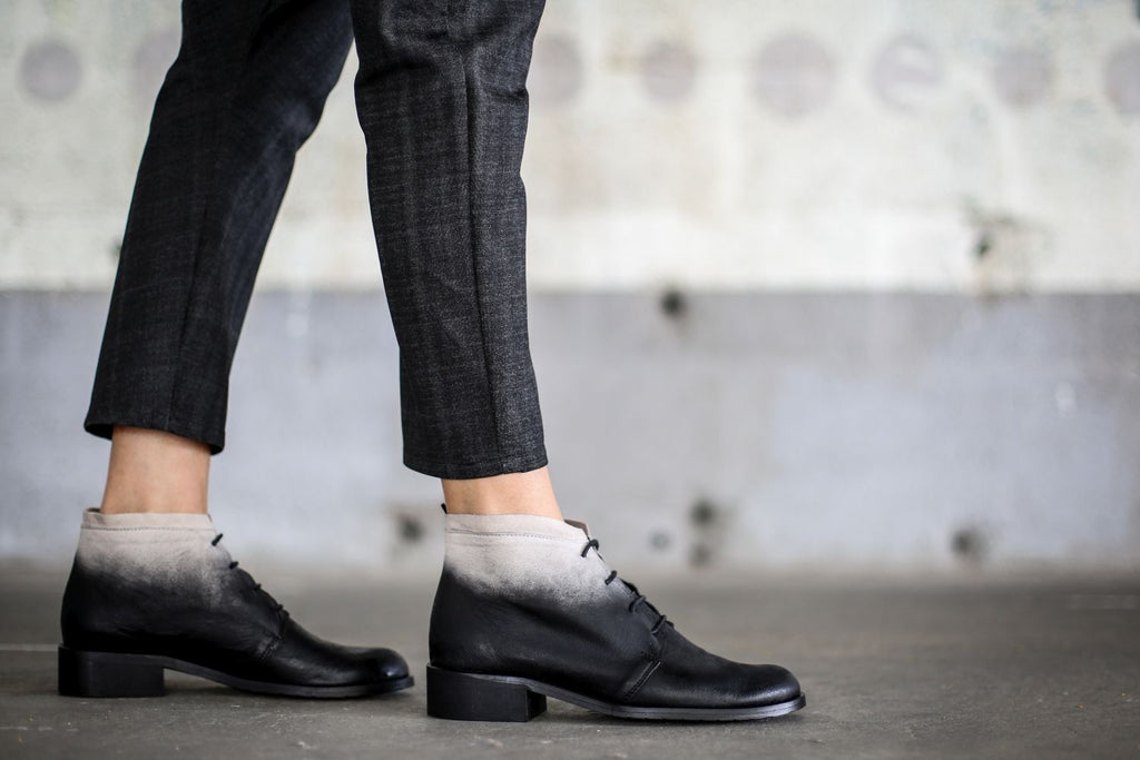 Romeo - Black and White - Abramey Shoes