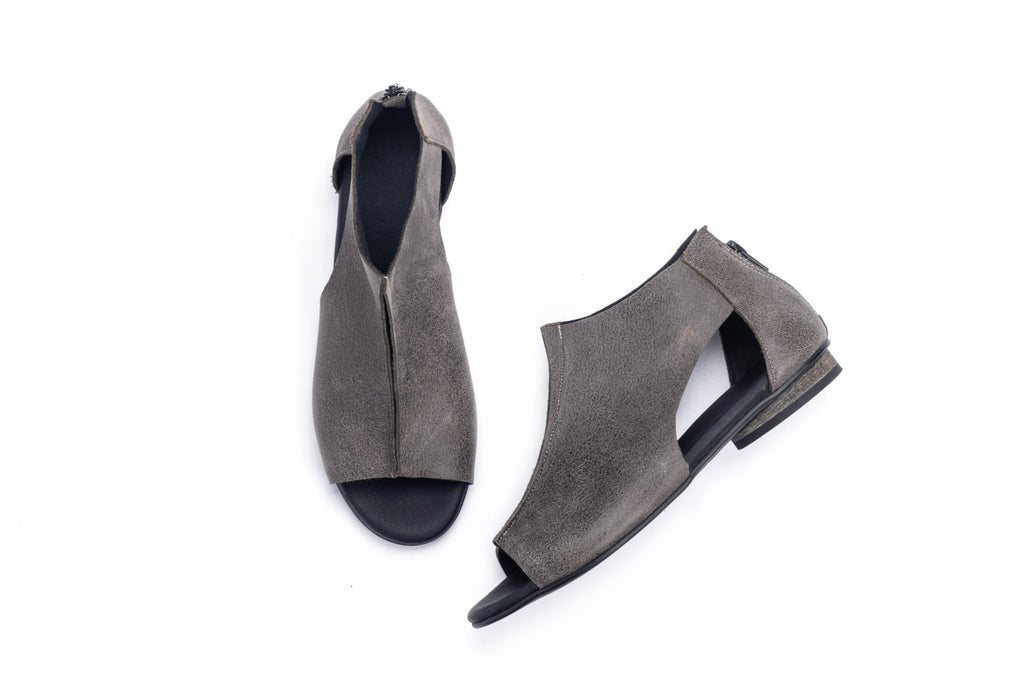 Giorgia - Khaki Gray - Abramey Shoes