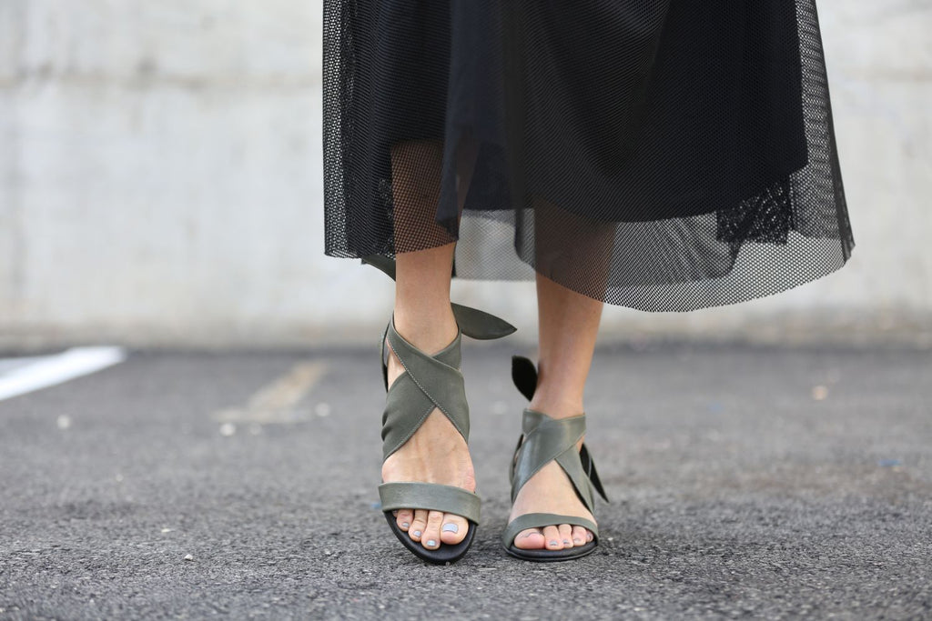 Lola - Green - Abramey Shoes