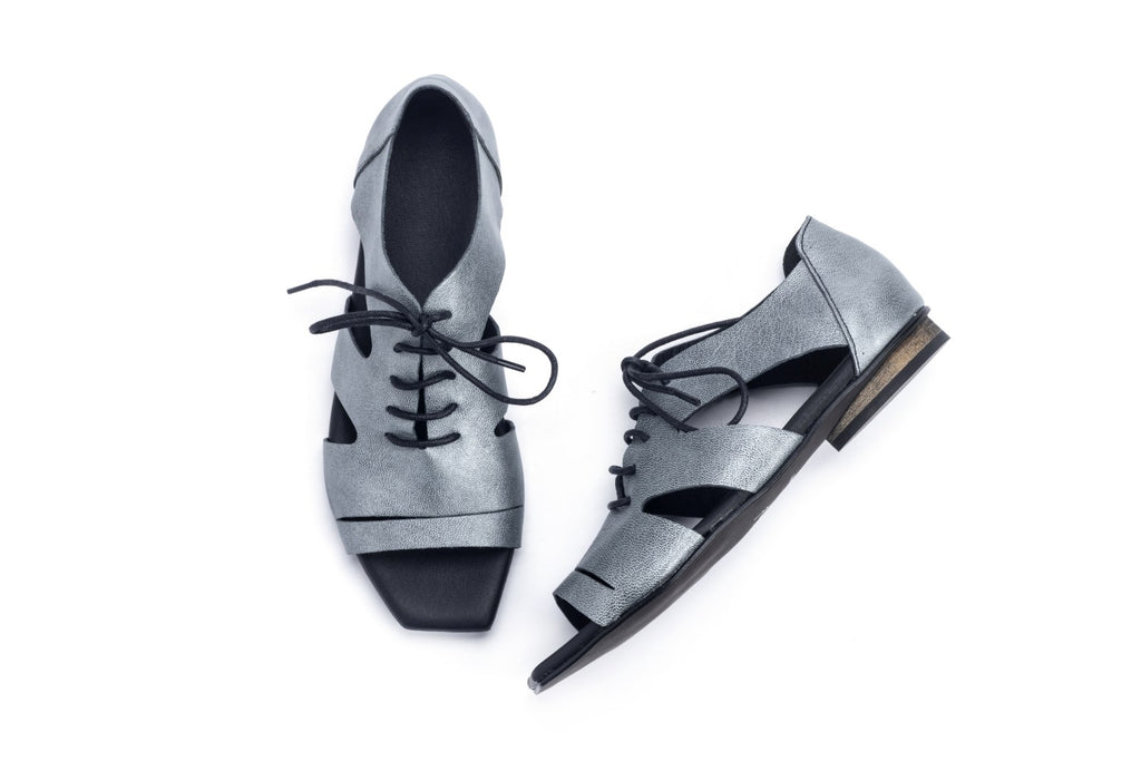 Robin - Silver - Abramey Shoes