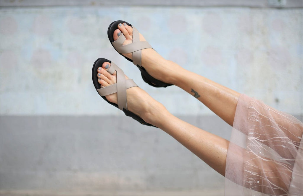 Faye - Grey - Abramey Shoes