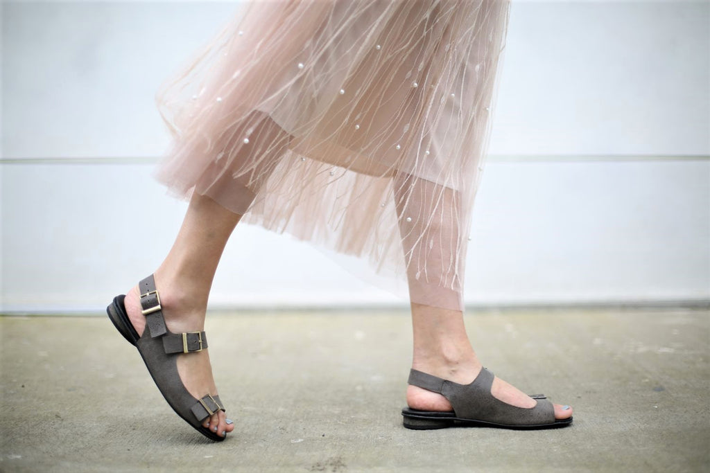 Marcella - Grey - Abramey Shoes
