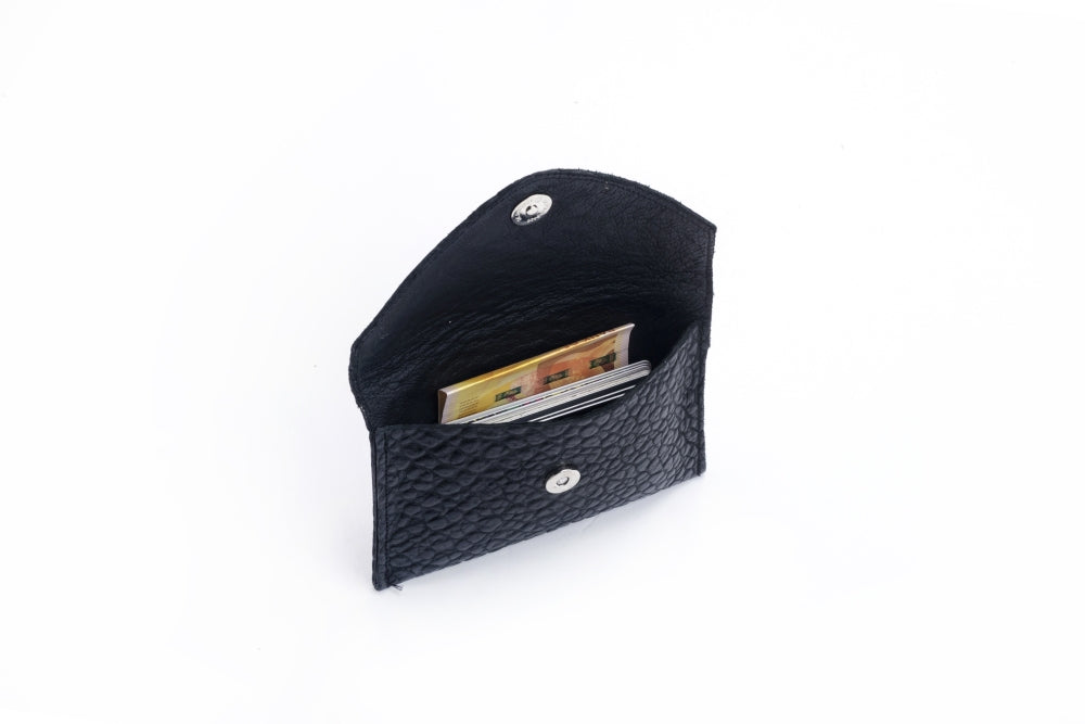 Looshi Wallet - Imprinted Black Woven