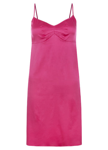 Samantha Stretch Silk Satin Slip Ruby Rose