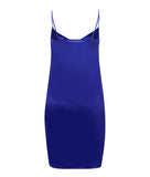 Samantha Stretch Silk Satin Chemise Bluebell