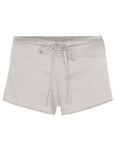 Samantha Stretch Silk Satin Short Silver