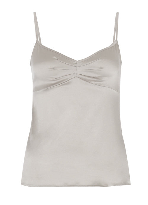 a64514b3bb Samantha Stretch Silk Satin Camisole Silver – Julianne London