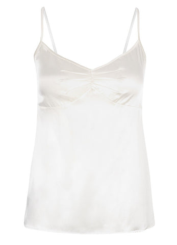 Samantha Stretch Silk Satin Camisole Cream