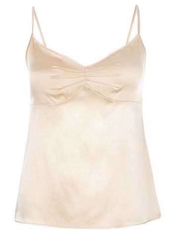 Samantha Stretch Silk Satin Camisole Nude