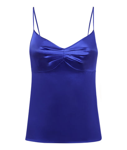 Samantha Stretch Silk Satin Camisole Bluebell