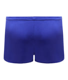 Samantha Stretch Silk Satin Short Bluebell