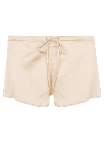 Samantha Stretch Silk Satin Short Nude