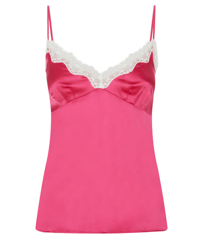 Ava Stretch Silk Satin Camisole Ruby Rose