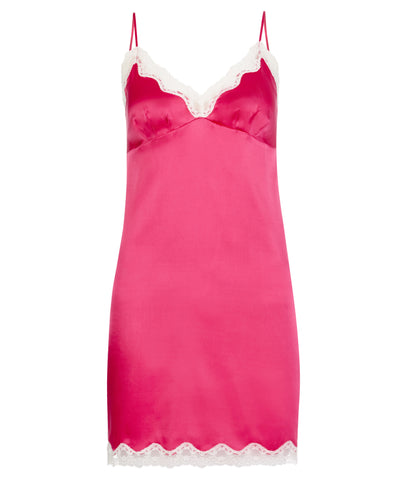 Ava Stretch Silk Satin Chemise Ruby Rose
