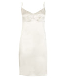 Samantha Stretch Silk Satin Slip Silver