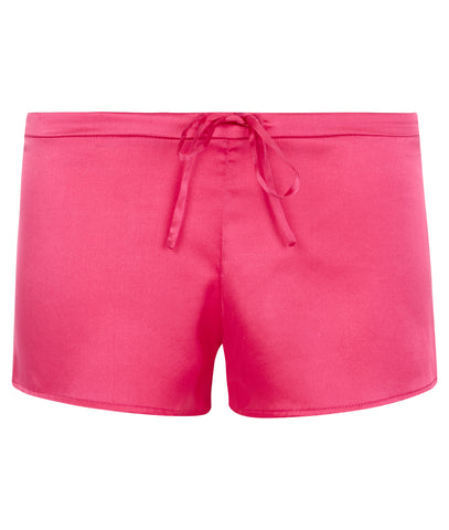 Samantha Stretch Silk Satin Short Ruby Rose