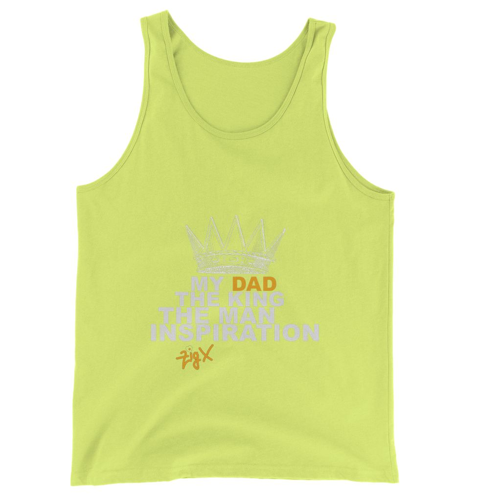 Dad The King Jersey Tank Top