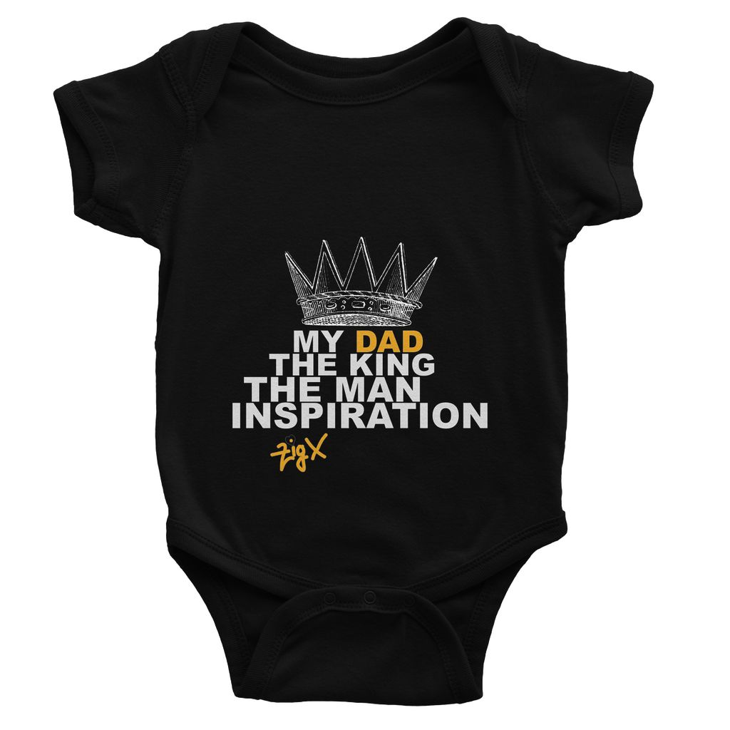 Dad The King Baby Bodysuit