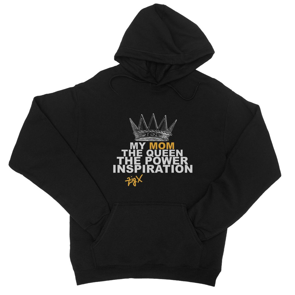 Mom The Queen College Hoodie
