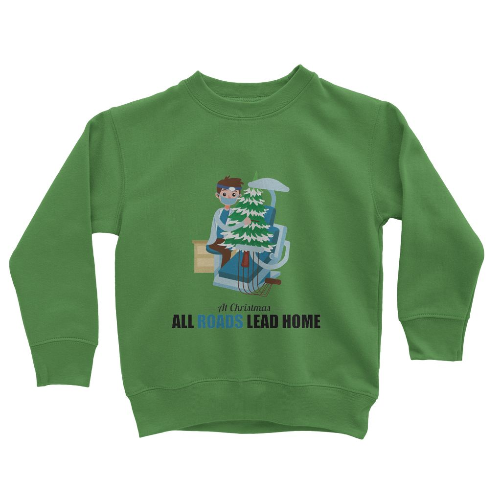 Xmas Dentist Kids Sweatshirt