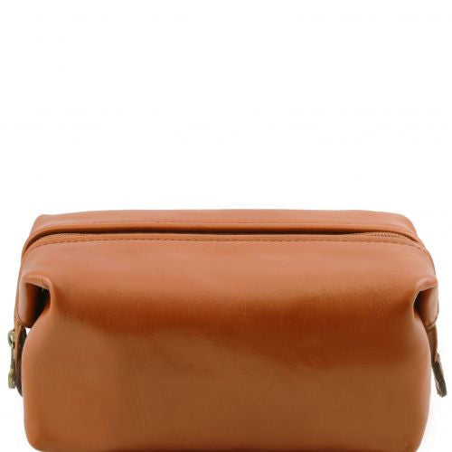 03a39bcb9b Smarty - Leather toilet bag - Small size - The Leather Vault of Stamford
