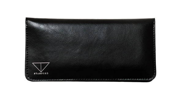 Genuine Leather Purse Wallet - Black – The Leather Vault of Stamford 431ae7f32e47