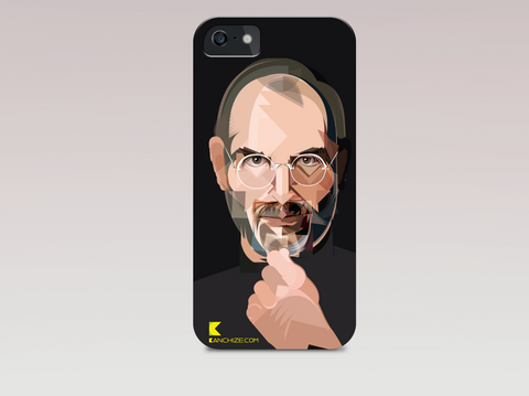 Mobile phone cover - Steve Jobs