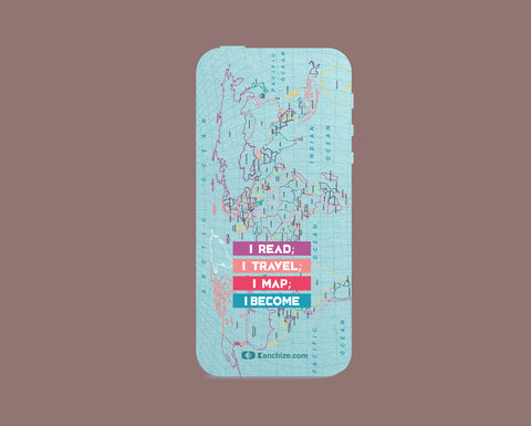 Mobile phone cover - I Map