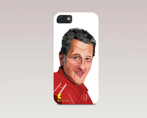 Mobile phone cover - Michael Schumacher