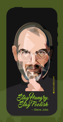 Mobile phone cover - Steve Jobs stay hungry stay foolish