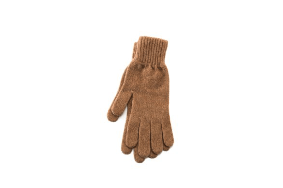 Beige angora blend women´s gloves