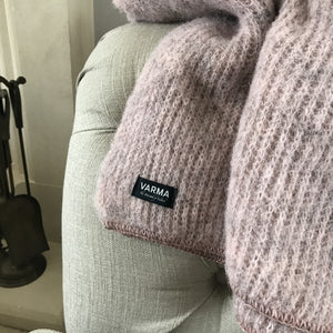 pink varma wool throw