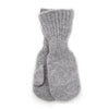 grey toddler mittens made of soft pure new wool varma icelandic wool
