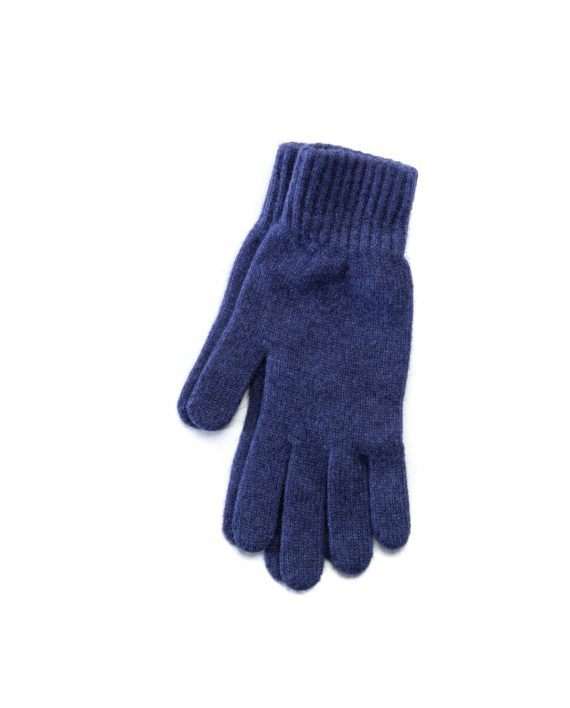 Blue angora blend women´s gloves