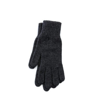 Dark grey angora blend women´s gloves