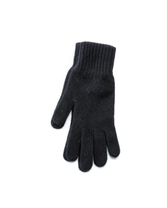 Black angora blend women´s gloves