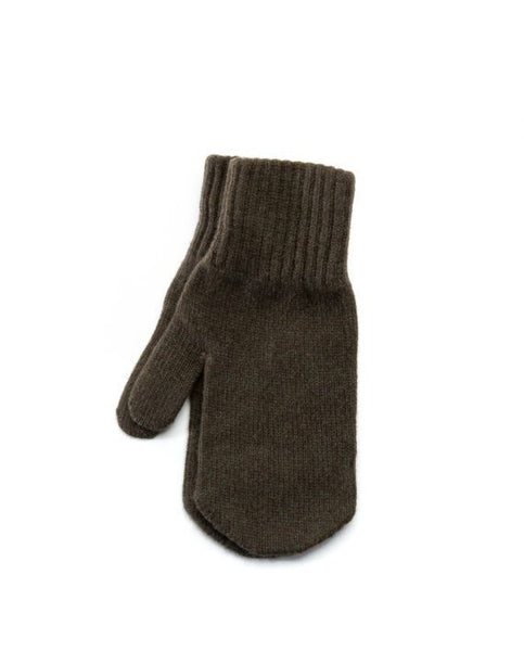 Army green men´s wool mittens