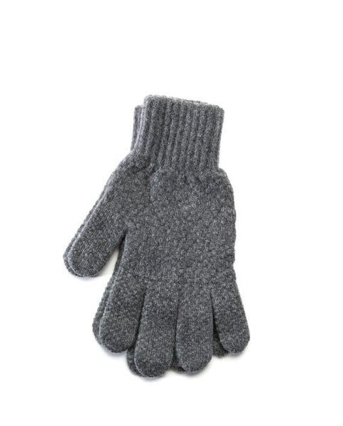Grey strong Icelandic wool mens gloves
