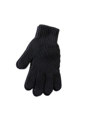 Black strong Icelandic wool mens gloves