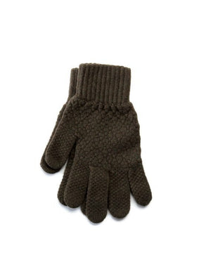 Army green strong Icelandic wool mens gloves