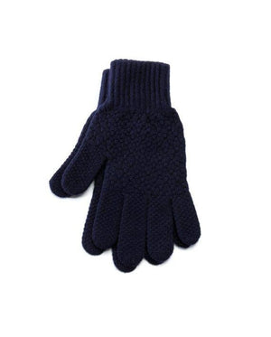Navy blue strong Icelandic wool mens gloves