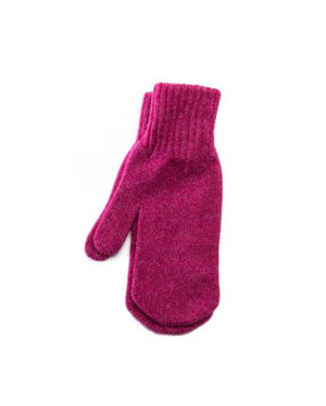 Berry pink woman´s wool mittens