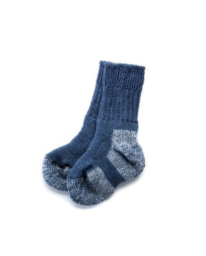 Blue Icelandic outdoor socks for kids